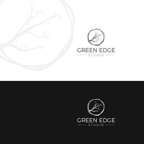 Green edge logo design