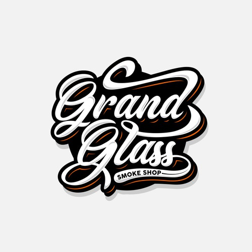 Lettering Logo for Grand Glass Smoke Shop