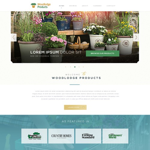 Garden Flower Pot website with an English Heritage feel
