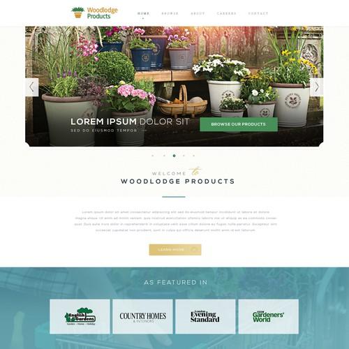 Garden Flower Pot website with an English Heritage feel