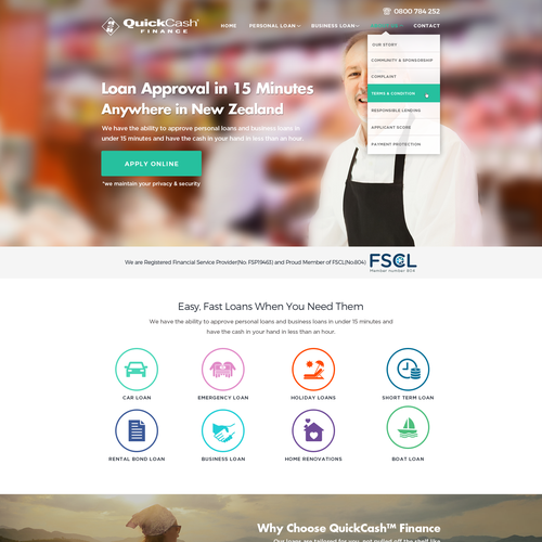 Website for personal loan and small business loan