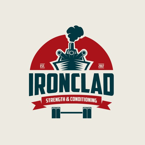 Bold logo for Ironclad Gym