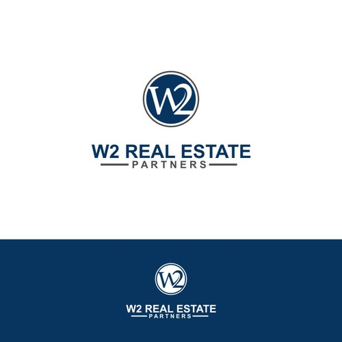 Create a logo capturing luxury and prestige for W2 Real Estate Partners.