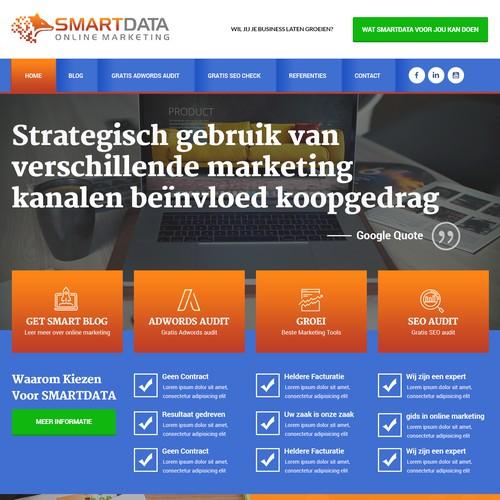 Bold Homepage for Digital Marketing Website
