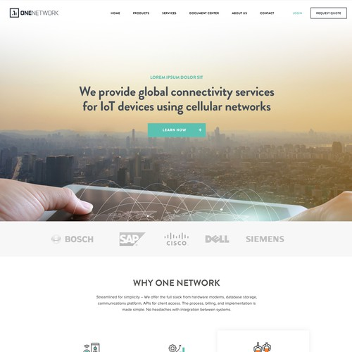 Webdesign for a wireless product provider company