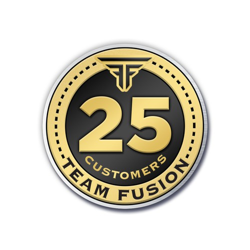 Team Fusion Custom Recognition Lapel Pin