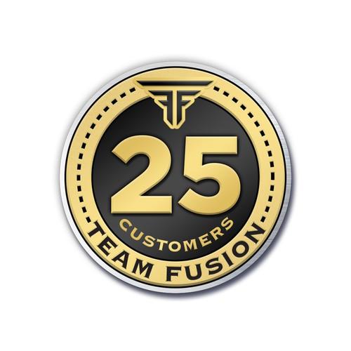 Team Fusion Custom Recognition Lapel Pin