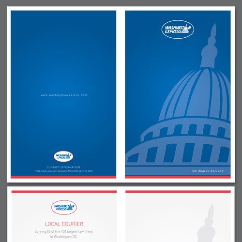 Create the next brochure design for Washington Express