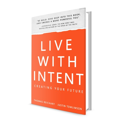 BOOK COVER DESIGN - LIVE WITH INTENT