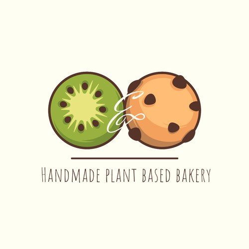 Logo concept for Kiwi and the cookie vegan bakery