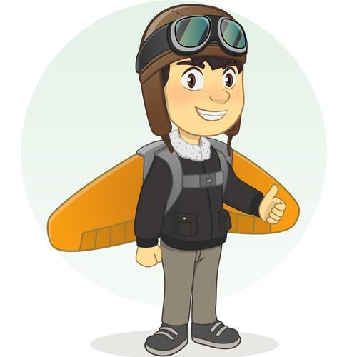 character pilot kids design
