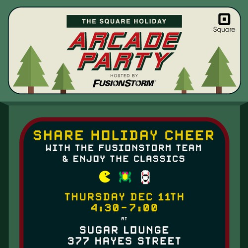 Holiday Party Invite: Arcade Party