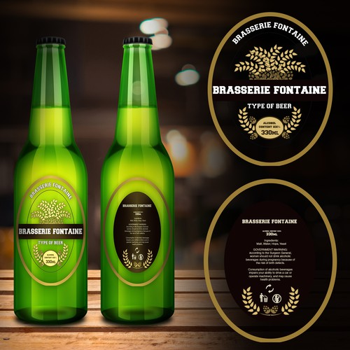 Brasserie Fontaine Beer Label