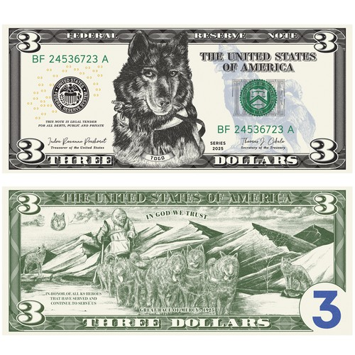 Dollar Bill engraving illustration
