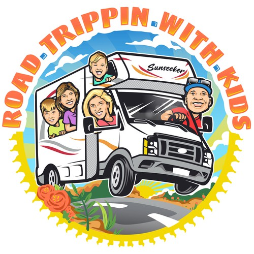Road Trippin With Kids Logo