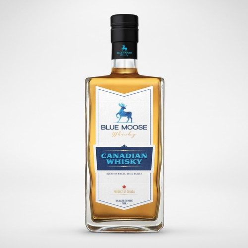 Modern classic Whisky label