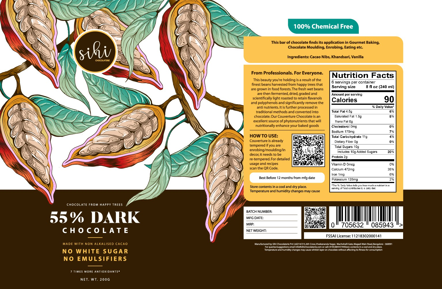 Design label for a Craft Chocolate Company