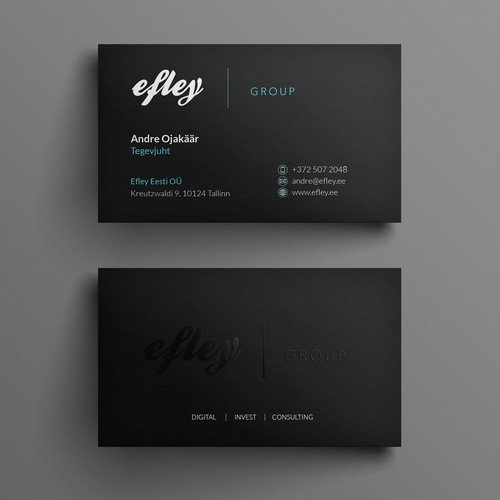 Modern minimalist bus card for efley group