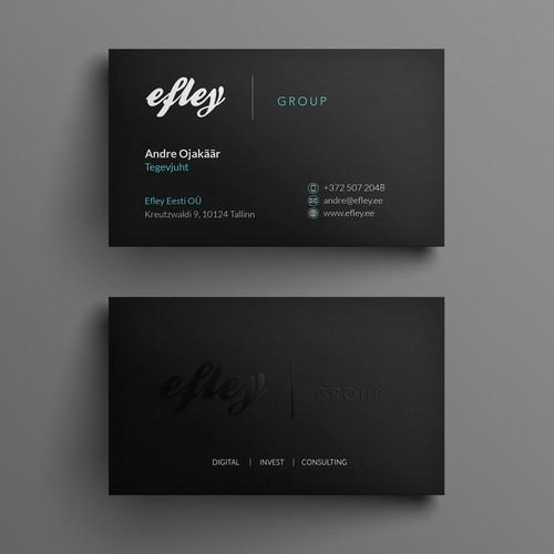 Modern minimalist bus card for efley group