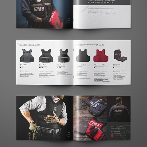 Booklet for body armour company.
