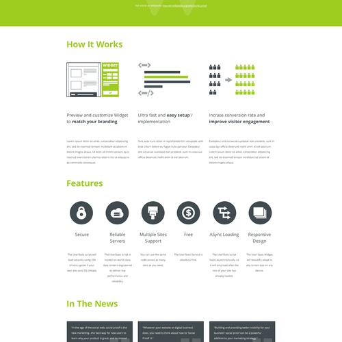 Create a winning design for userstats.com