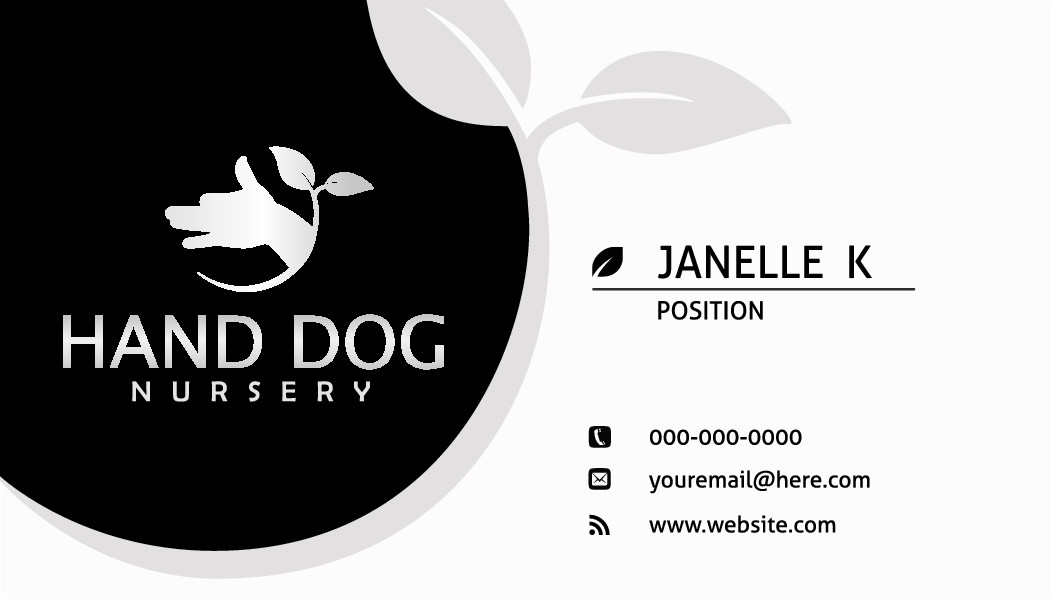 Brand the Hand Dog - a quirky name with a solid but organic looking logo for a plant nursery