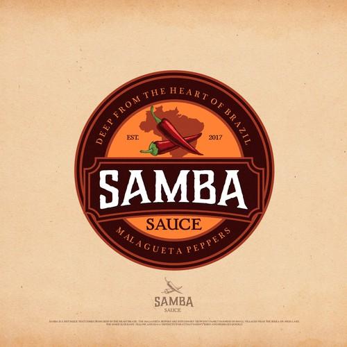 """Logo design concept for """"Samba Sauce"""""""