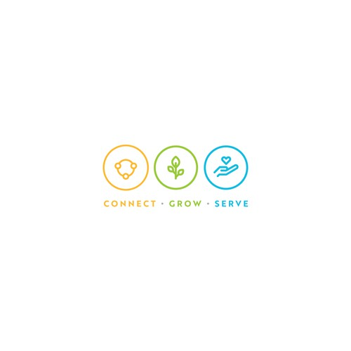 Logo Design Concept for Connect Grow Serve