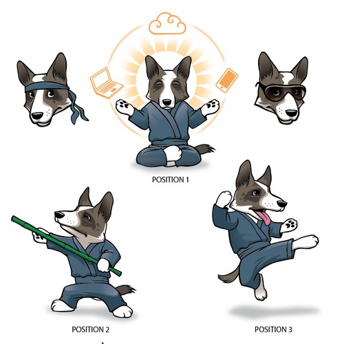 Ninja corgi anime/manga mascot with a cause, fighting the good fight!