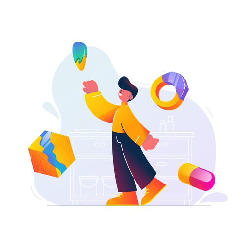 Illustration for a landing page