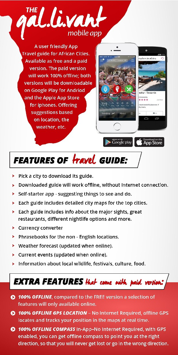 Mobile App Ad in Travel Guide