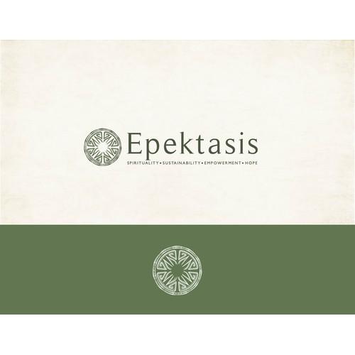 Create a logo for Epektasis: Spirituality. Sustainability. Empowerment. Hope.
