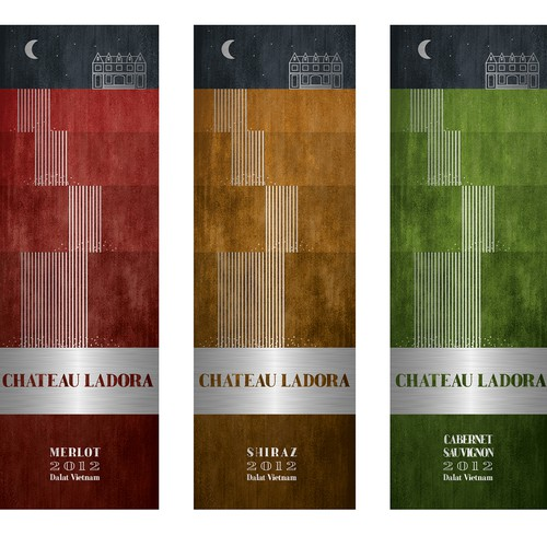 Label design for Chateau Ladora