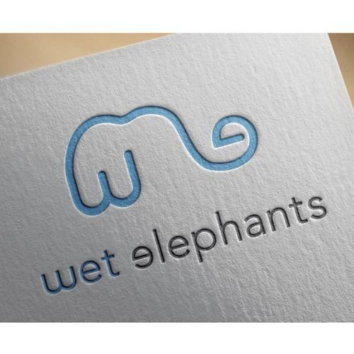 Wet Elephant Lettermark Logo
