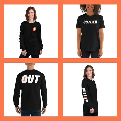 Standout design for Outlier streetwear brand!