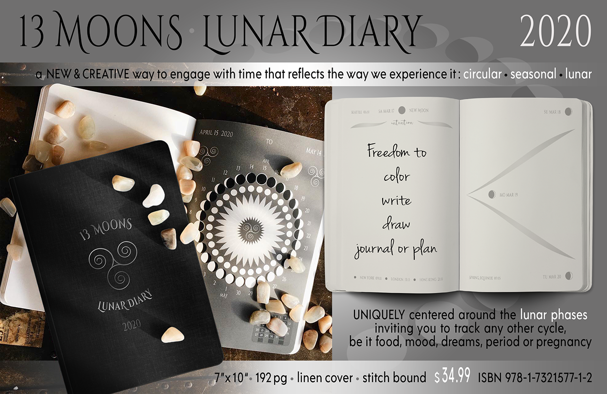 Lunar Diary 2020 Ad for catalogue and mock up