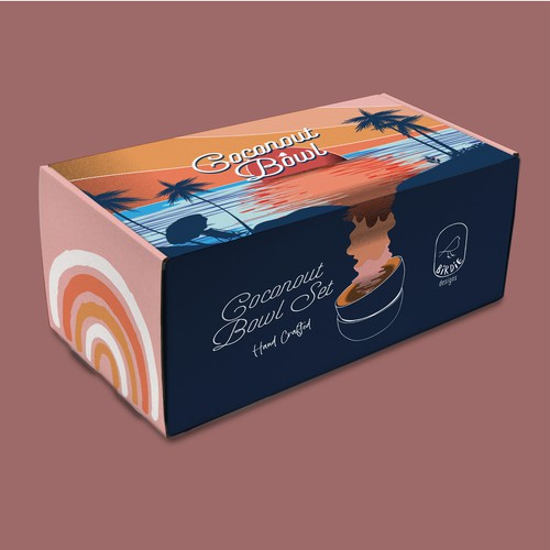 Coconut bowl packaging