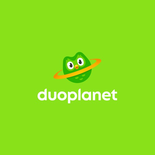 Logo for a website about Duolingo and language learning