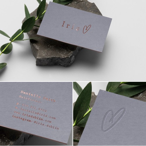 Letterpress Business Cards for Hair Studio