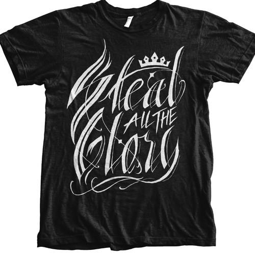hand lettering luxury aggressive t shirt design