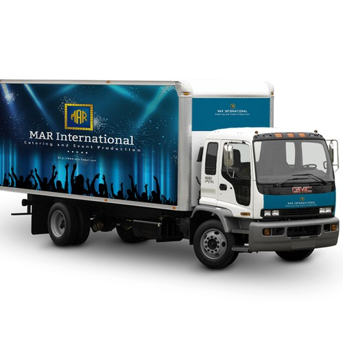 Create an attractive, elegant, vanguard look for the truck of an event company!