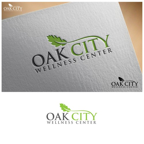 Design an oak tree logo for a new wellness center