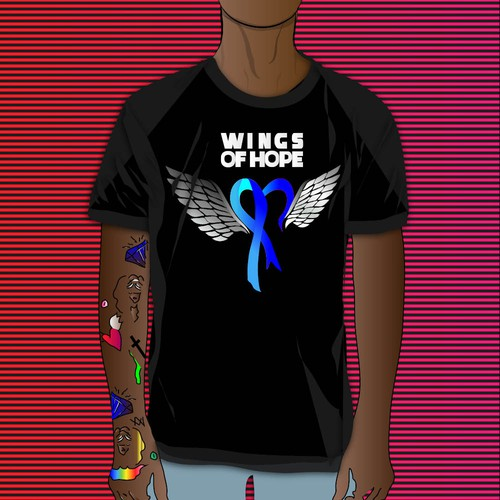 t shirt concept wings of hope 2