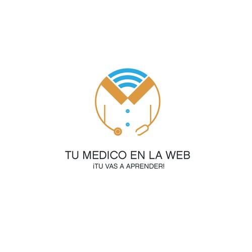 logo concept for online doctor