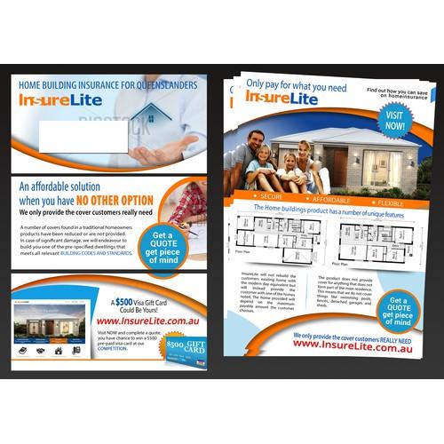 Insurance A4 3 fold flyer