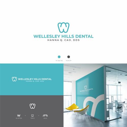 Logo concept for dental clinic in Wellesley Hills
