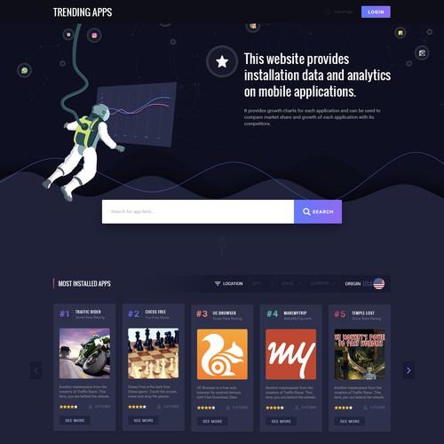 """Design a """"website"""" like alexa.com but for mobile applications"""
