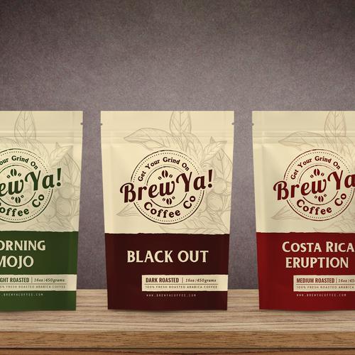 Brew Ya, label design