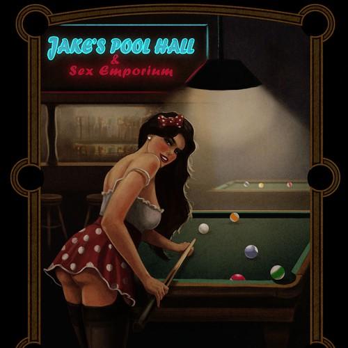 Pin up pool girl