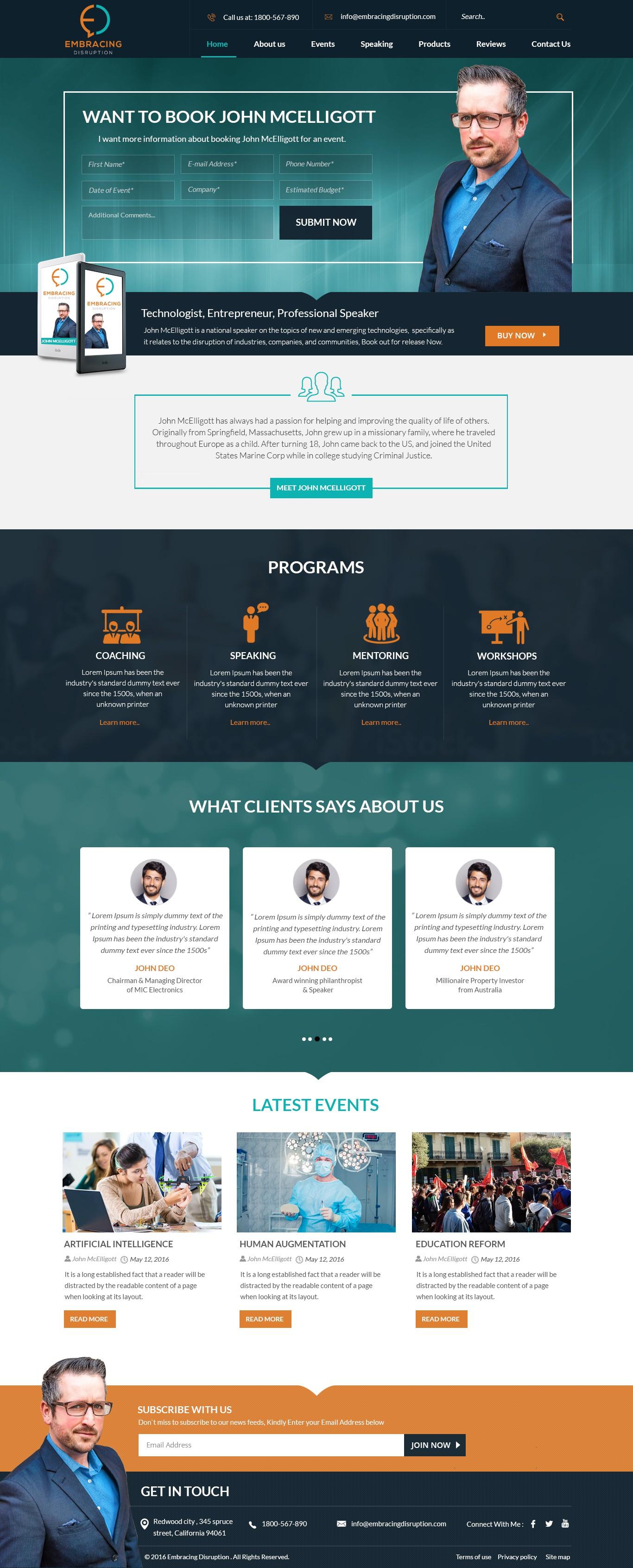Website for Dynamic Public Speaker